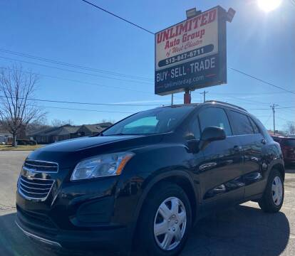 2015 Chevrolet Trax for sale at Unlimited Auto Group in West Chester OH