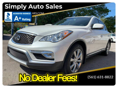 2017 Infiniti QX50 for sale at Simply Auto Sales in Palm Beach Gardens FL