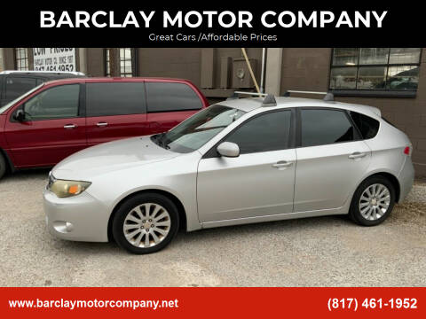 2008 Subaru Impreza for sale at BARCLAY MOTOR COMPANY in Arlington TX