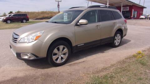 2010 Subaru Outback for sale at 6 D's Auto Sales MANNFORD in Mannford OK