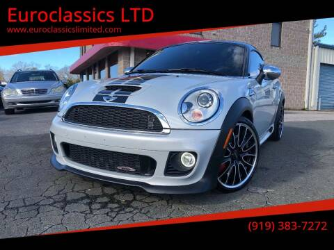 2015 MINI Coupe for sale at Euroclassics LTD in Durham NC