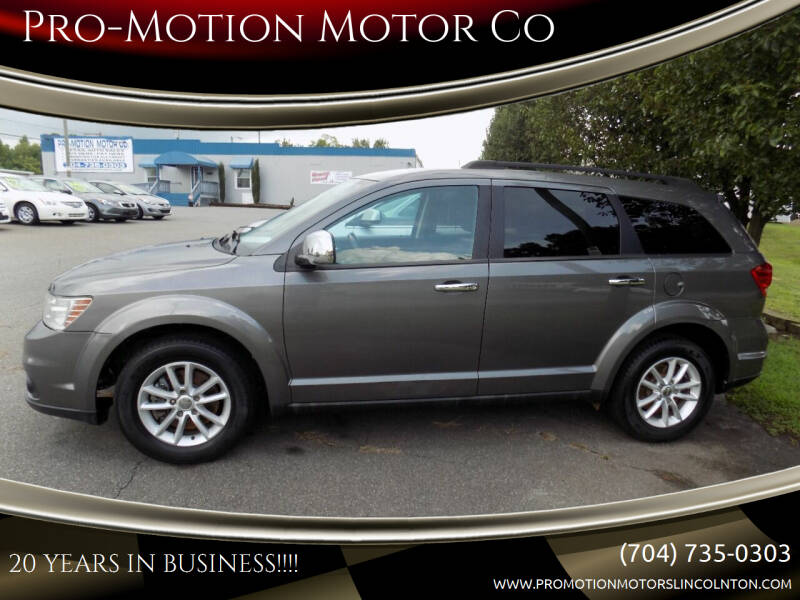 2013 Dodge Journey for sale at Pro-Motion Motor Co in Lincolnton NC