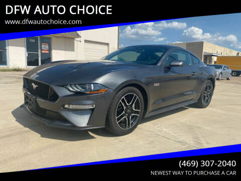 2019 Ford Mustang for sale at DFW AUTO CHOICE in Dallas TX