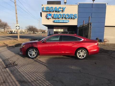 2015 Chevrolet Impala for sale at Legacy Motors in Detroit MI