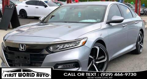 2018 Honda Accord for sale at First World Auto in Jamaica NY