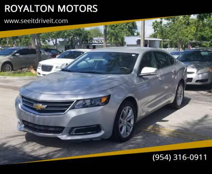 2020 Chevrolet Impala for sale at ROYALTON MOTORS in Plantation FL