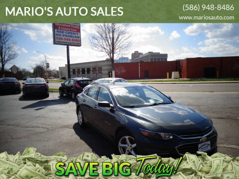 2018 Chevrolet Malibu for sale at MARIO'S AUTO SALES in Mount Clemens MI