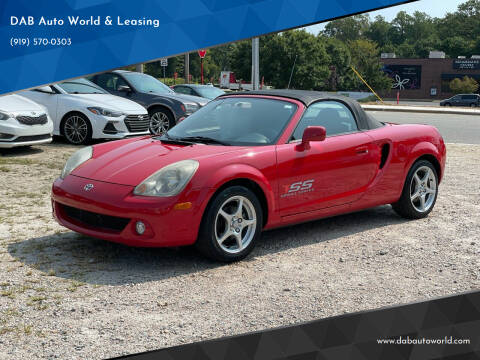 2003 Toyota MR2 Spyder for sale at DAB Auto World & Leasing in Wake Forest NC