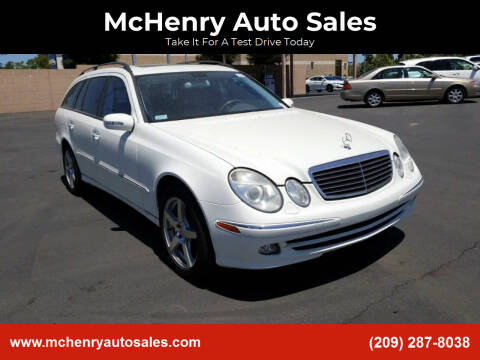 2005 Mercedes-Benz E-Class for sale at McHenry Auto Sales in Modesto CA