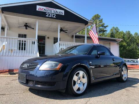 2002 Audi TT for sale at CVC AUTO SALES in Durham NC
