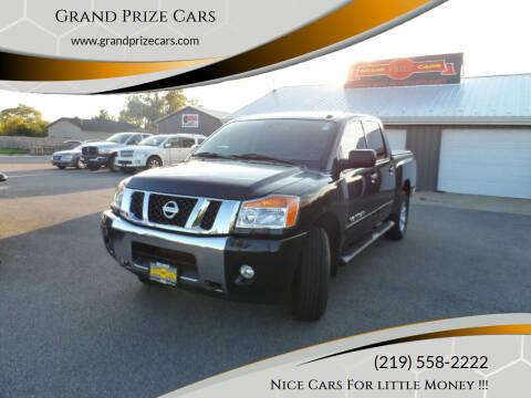 2014 Nissan Titan for sale at Grand Prize Cars in Cedar Lake IN