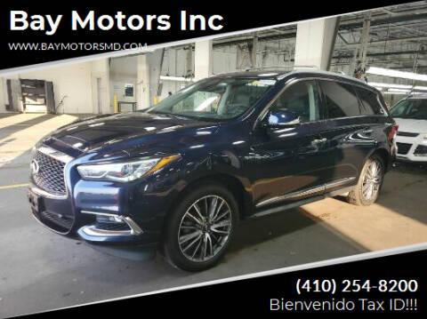2019 Infiniti QX60 for sale at Bay Motors Inc in Baltimore MD