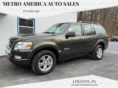 2008 Ford Explorer for sale at METRO AMERICA AUTO SALES of Lebanon in Lebanon PA