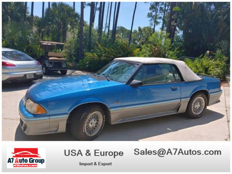 1987 Ford Mustang for sale at A7 AUTO SALES in Holly Hill FL