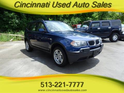 2004 BMW X3 for sale at Cincinnati Used Auto Sales in Cincinnati OH