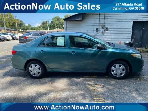 2009 Toyota Corolla for sale at ACTION NOW AUTO SALES in Cumming GA