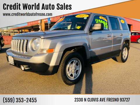 2017 Jeep Patriot for sale at Credit World Auto Sales in Fresno CA