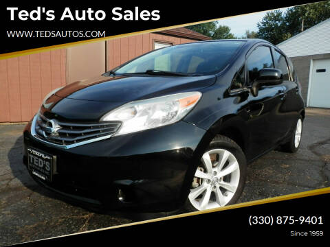2014 Nissan Versa Note for sale at Ted's Auto Sales in Louisville OH