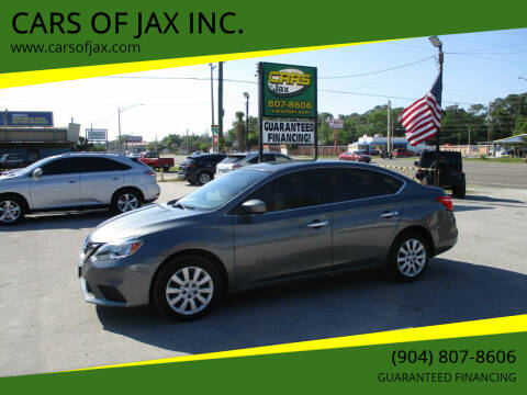 2016 Nissan Sentra for sale at CARS OF JAX INC. in Jacksonville FL