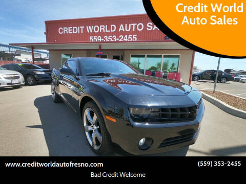 2010 Chevrolet Camaro for sale at Credit World Auto Sales in Fresno CA
