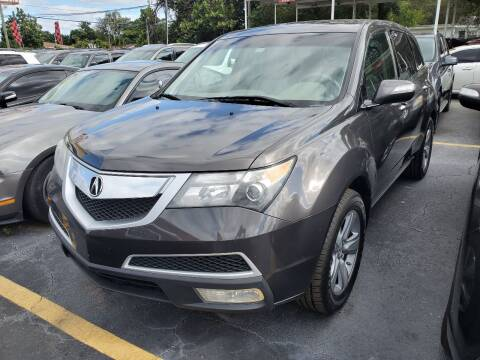 2012 Acura MDX for sale at America Auto Wholesale Inc in Miami FL