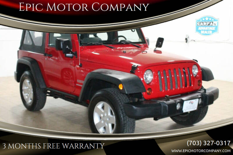 2010 Jeep Wrangler for sale at Epic Motor Company in Chantilly VA