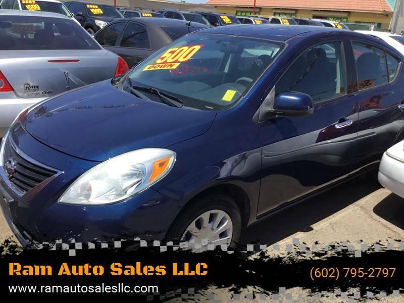 2014 Nissan Versa for sale at Ram Auto Sales LLC in Phoenix AZ