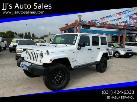 2014 Jeep Wrangler Unlimited for sale at JJ's Auto Sales in Salinas CA