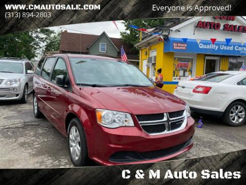 2016 Dodge Grand Caravan for sale at C & M Auto Sales in Detroit MI