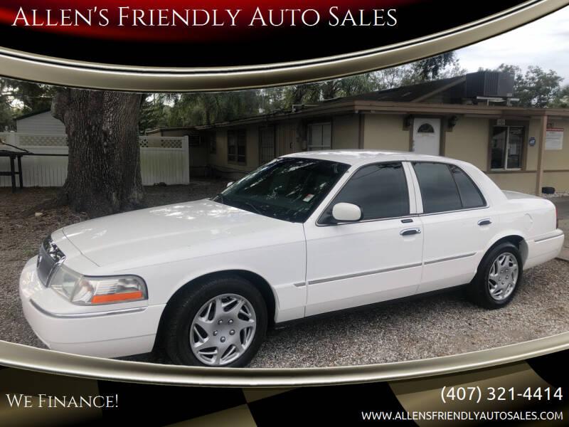 2004 Mercury Grand Marquis for sale at Allen's Friendly Auto Sales in Sanford FL