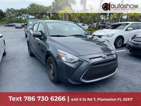 2019 Toyota Yaris for sale at AUTOSHOW SALES & SERVICE in Plantation FL