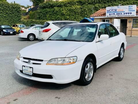 1999 Honda Accord for sale at MotorMax in Lemon Grove CA