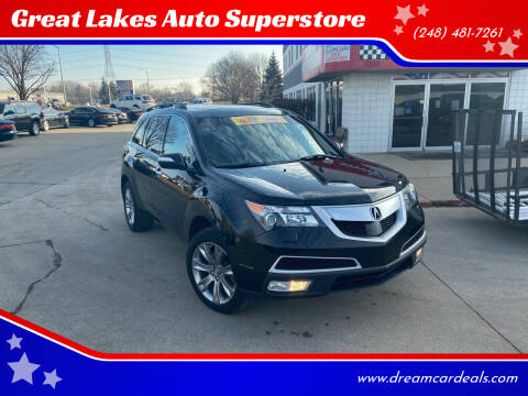 2011 Acura MDX for sale at Great Lakes Auto Superstore in Pontiac MI