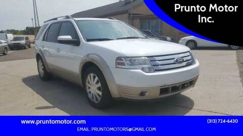 2008 Ford Taurus X for sale at Prunto Motor Inc. in Dearborn MI