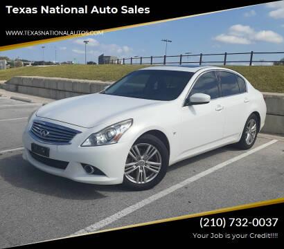 2015 Infiniti Q40 for sale at Texas National Auto Sales in San Antonio TX