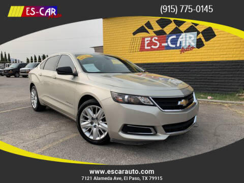 2015 Chevrolet Impala for sale at Escar Auto - 9809 Montana Ave Lot in El Paso TX