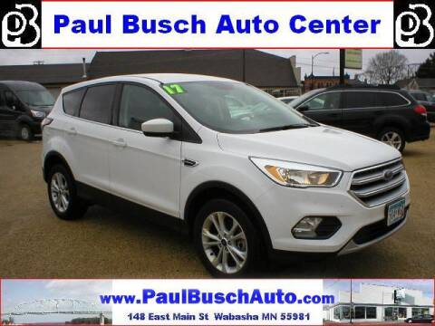 2017 Ford Escape for sale at Paul Busch Auto Center Inc in Wabasha MN