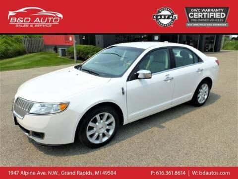 2012 Lincoln MKZ for sale at B&D Auto Sales Inc in Grand Rapids MI