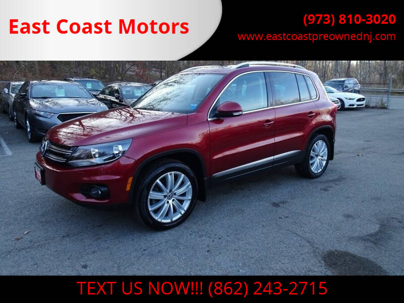 2015 Volkswagen Tiguan for sale at East Coast Motors in Lake Hopatcong NJ