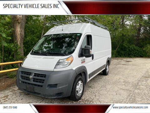 2015 RAM ProMaster Cargo for sale at SPECIALTY VEHICLE SALES INC in Skokie IL