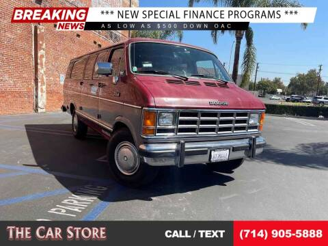 1990 Dodge Ram Wagon for sale at The Car Store in Santa Ana CA