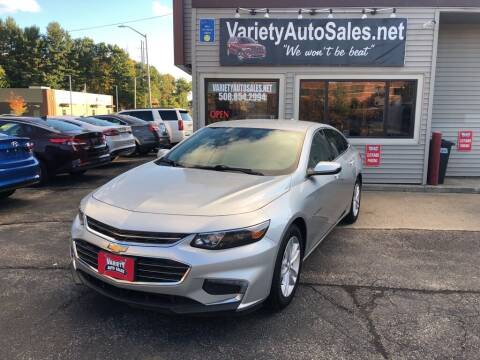 2018 Chevrolet Malibu for sale at Variety Auto Sales in Worcester MA