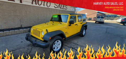 2008 Jeep Wrangler Unlimited for sale at Harvey Auto Sales, LLC. in Flint MI