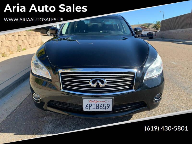 2012 Infiniti M37 for sale at Aria Auto Sales in El Cajon CA