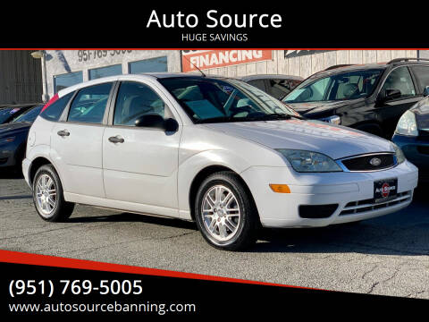 2006 Ford Focus for sale at Auto Source in Banning CA