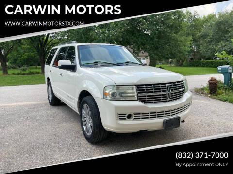 2008 Lincoln Navigator for sale at CARWIN MOTORS in Katy TX
