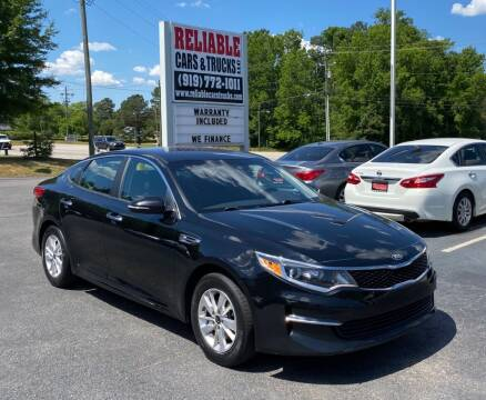 2017 Kia Optima for sale at Reliable Cars & Trucks LLC in Raleigh NC