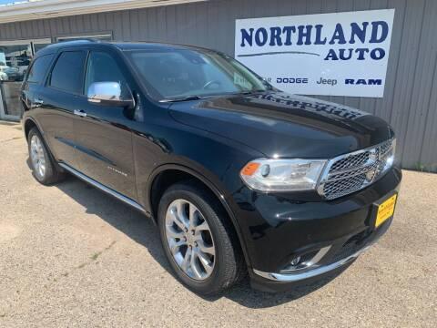 2018 Dodge Durango for sale at Northland Auto in Humboldt IA