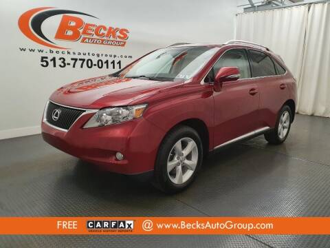 2012 Lexus RX 350 for sale at Becks Auto Group in Mason OH