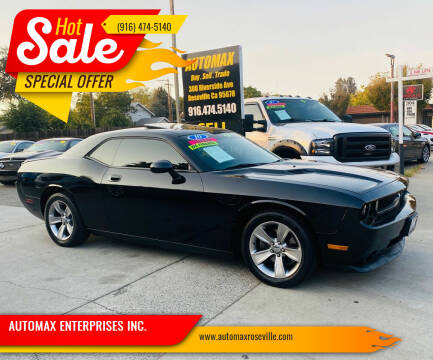 2010 Dodge Challenger for sale at AUTOMAX ENTERPRISES INC. in Roseville CA